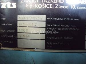 ohýbačka plechu XONM 2000/2-B VI